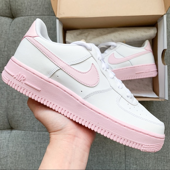 Nike Air Force White Pastel Pink Shoes